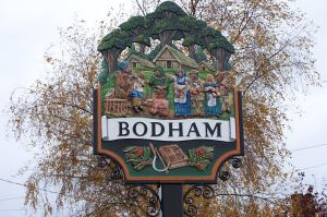 New Bodham Village sign 2011